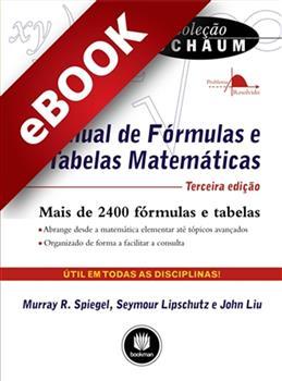 Manual de Fórmulas e Tabelas Matemáticas - eBook