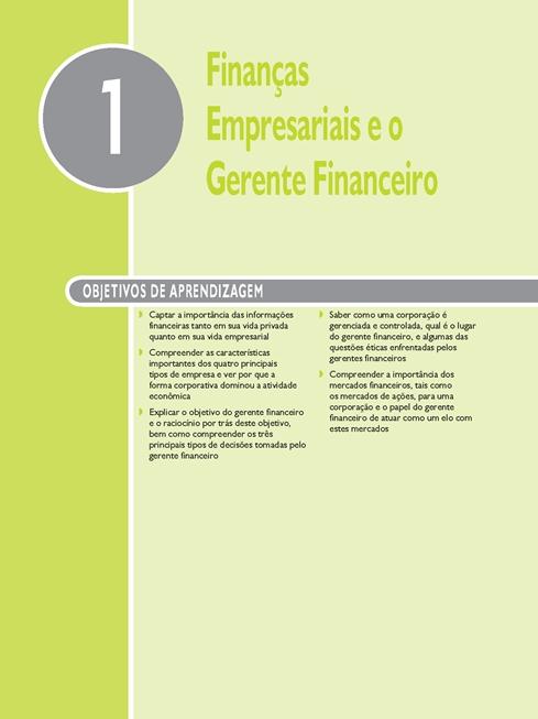 Fundamentos de Finanças Empresariais