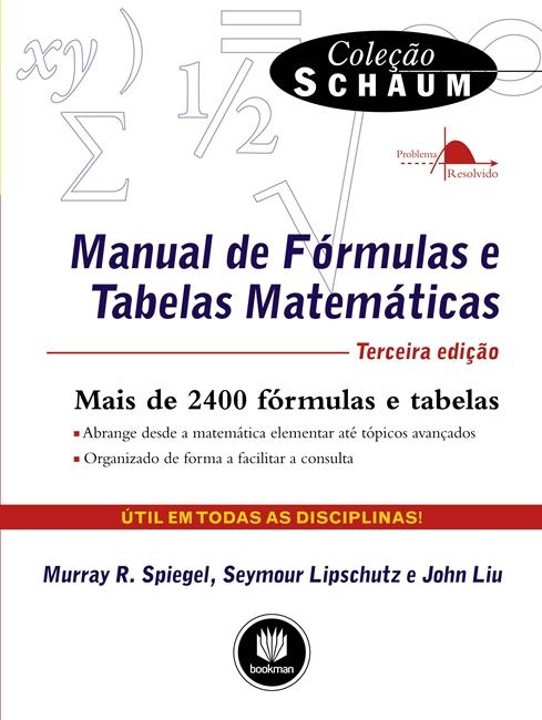 Manual de Fórmulas e Tabelas Matemáticas